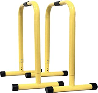 SOTASTIC 1 Pair Full Set Adjustable Dip Up Stand Station Tricep Strength Trainning Dips Body Self Weight Exercise Fitness Work Out Bar Heavy Duty Detachable for Home Office Gym 30in/35in25in