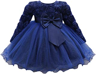 Toddler Baby Girls Dresses, Flower Baby Girl Princess Bridesmaid Pageant Gown Birthday Party Wedding Dress