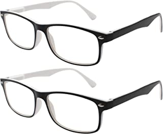 c8ead8608c TBOC Gafas de Lectura Presbicia Vista Cansada - (Pack 2 Unidades) Graduadas  +1.50