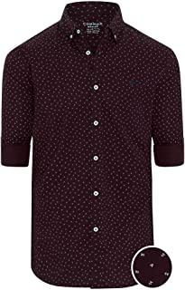 Connor Men's Clarence Casual Slim Shirt Long Sleeve Slim Tops Sizes XS-3XL Affordable Quality with Great Value