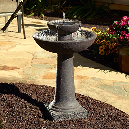 Smart Solar 34208RM1 Solar Water Fountain, Brown Finish