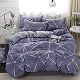 CHLCH Microfaser-Bettwäscheset - ganzjährig und zu 422 Jahreszeiten, Kopfkissenbezüge, Bettlaken, Bettbezug4-teiliges Bettbezugbetttuch Bettwäsche Farbe3 2,0 m 4-teiliges Set