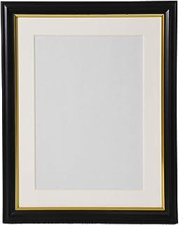 FUJICOLOR 額縁 肖像額 キャビネ 2L ブラック 木製 ガラス 404993