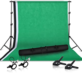 Photo Studio 2x2M Background Stand, Heavy Background Support Kit with Background Cloth and Carrying Case for Portrait Video Shooting