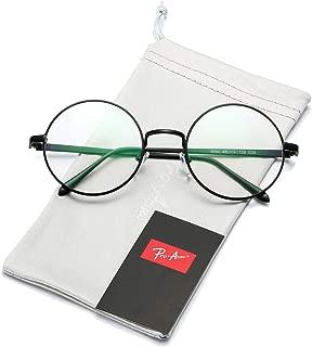 Retro Round Metal Frame Clear Lens Glasses Non-Prescription