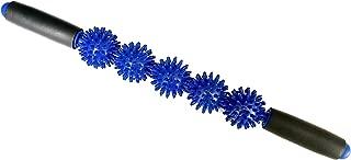 Therapist's Choice® Muscle Roller Stick 3000: Ergonomic Padded Grip 5 Spiky Balls Massage Stick