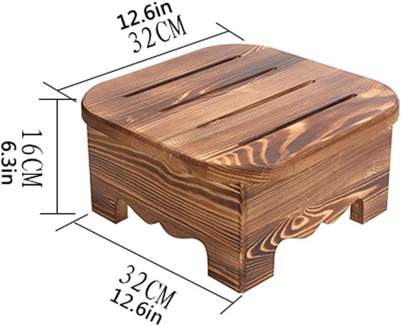 NYKK Repose Pieds Repose-Pieds Robuste Multifonction Tabouret Chaise Siège Repose-Pieds Tabouret Enfant Repose-Pieds (Color : Wood Color) Varnish Baking Color