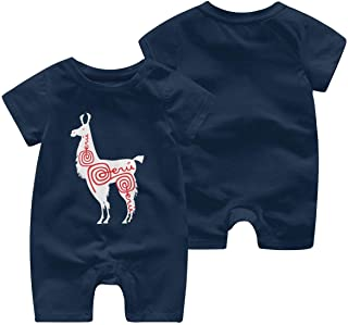 Baby Infant Toddler Romper Jumpsuit Alpaca Peru Cotton Short Sleeve Romper Bodysuit