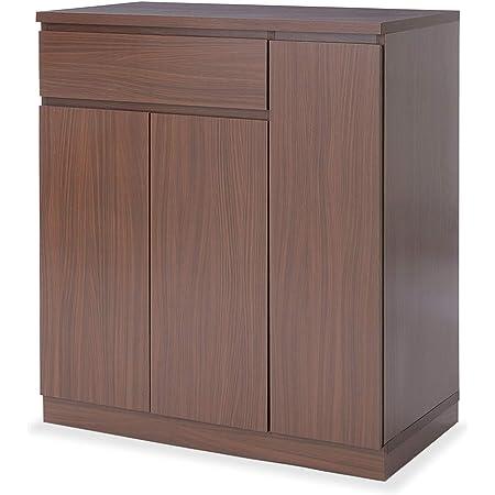 LOWYA ロウヤ キッチン収納 キッチンワゴン カウンター キッチンカート 幅83 ウォルナット