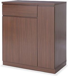 LOWYA キッチン収納 キッチンワゴン カウンター キッチンカート 幅83 ウォルナット