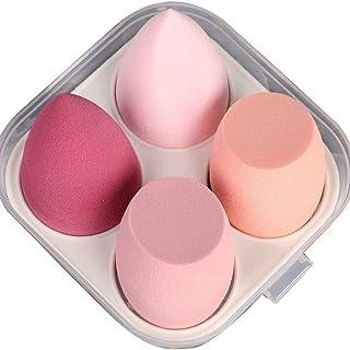 4 stks make-up spons schoonheid cosmetische tool, make-up sponzen schoonheid blender foundation spons, roze