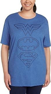 Women's Plus Size T-Shirt Wonder Woman Superman Batman Logo Print