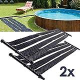 Nemaxx SH3000/SH6000 Chauffage Solaire, solar heater, 3m, 6 m - chauffage solaire de piscine, chauffage solaire, tapis chauffant de piscine, collecteur solaire de piscine - 2 pieces SH3000