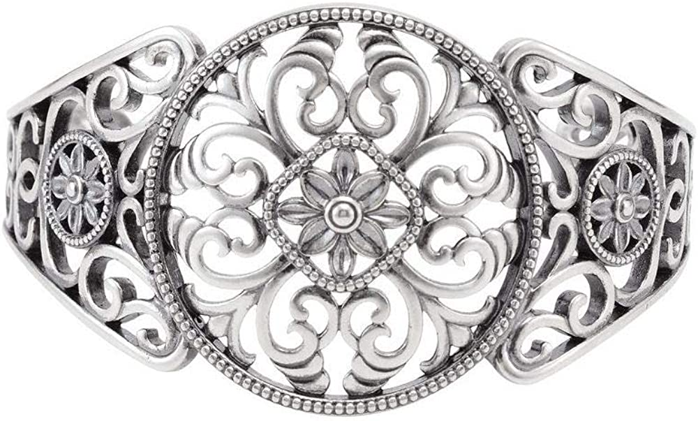 Filigree Bangle Cuff Bracelet (Width = 36mm)