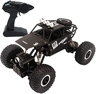 yingliwei Remote Control Car, 1:18 Scale 2.4 Ghz 4WD High Speed Vehicle Rally Car for Kids and Adults, Black