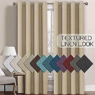 H.VERSAILTEX Room Darkening Linen Curtain for Sliding Door (100