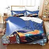 Aatensou 3D Digital Print Grand Theft Auto - Juego de cama de 3 piezas, 100% microfibra, juego de aventura, juego de 3 piezas, 230 x 260 cm