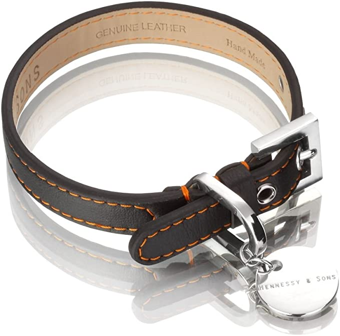 Hennessy Lorica Microfiber and Leather Dog Collar | Amazon