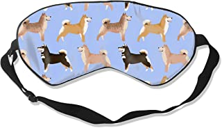 Shiba Inu Dogs Periwinkle Dogs Purple Blue Cute Pe 100% Silk Sleep Mask Comfortable Non-Toxic, Odorless and Harmless,Soft Blindfold Eye Mask Good for Travel and Sleep