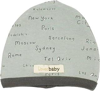 قبعة أطفال عضوية للأطفال من الجنسين من L'ovedbaby (أسماء مدينة رغوة البحر، 6-12 شهرًا)