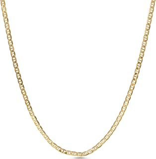 1mm -2.5mm Anchor Chain Necklace for Men or Women in...