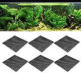 Filtro de fondo de acuario, diseño de empalme combinado Bandeja de filtro de tanque de peces flexible, Fondo de tanque de peces para acuario casero(black, 30 * 30CM)