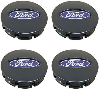 Cardiytools 4PCS 67mm Black Center Wheel HUB Caps Emblem Cover Fit for Ford BB53-1A096-RA