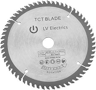 165mm TCT hoja de sierra circular Disco de corte rotativa en plata para la Copa madera 60dientes + 1anillo de reducción