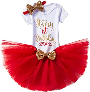 red first birthday outfit