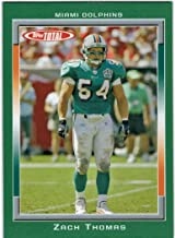 2006 Topps Total Miami Dolphins Team Set with Jason Taylor & Zach Thomas - 18 NFL Cards