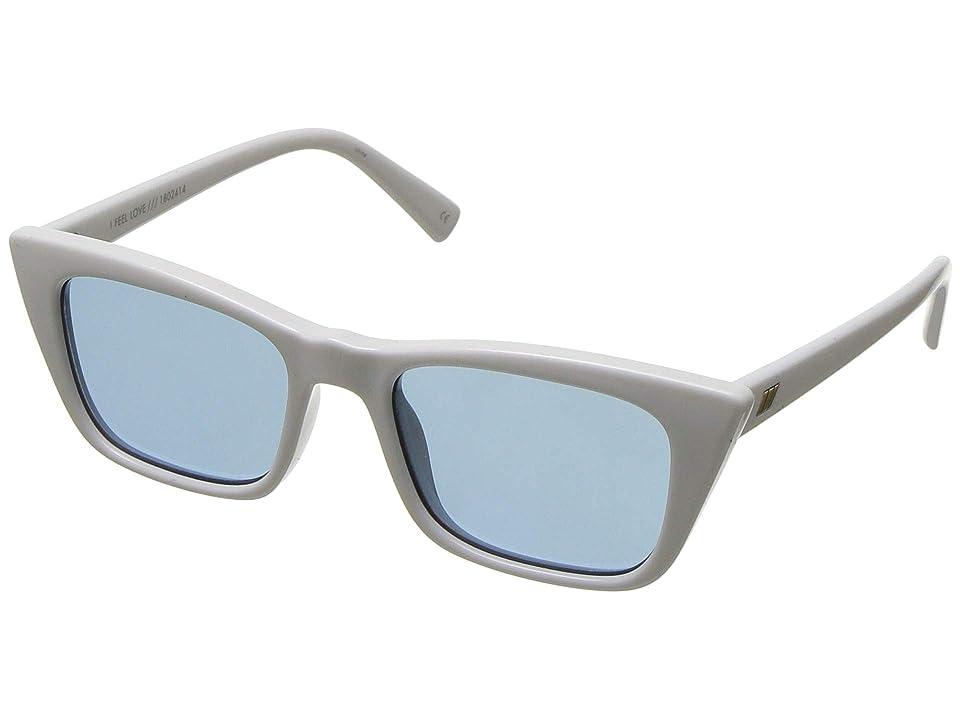 Le Specs I Feel Love (Optic White) Fashion Sunglasses