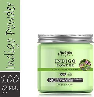AroMine Natural & Organic Indigo Powder for Hair Care, Hair Mask, 100gm