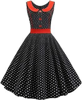 826f6b4f870 Oliviavane Rétro de Robe Femme Ete Noire 1950 S Audrey Mode Vichy Hepburn  Année 50 Rockabilly 60 S