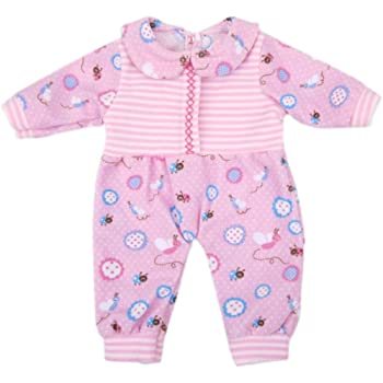 AOFUL Bitty Baby Doll Clothes, Cute Lovely Jumpsuit Pajamas Outfit Fits 14''- 16'' inch American Girl Dolls and More