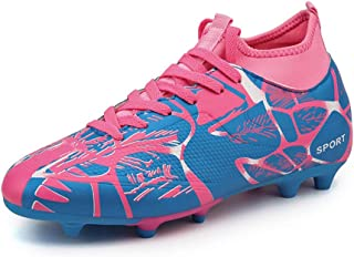Höga fotbollsskor, vuxna barn flickor spikarsula sneakers, pojkar flickor konstgräs fotbollsskor träning