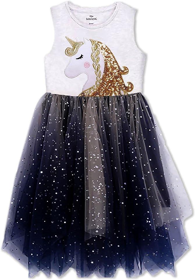 VIKITA Toddler Flower Girl Dress Summer Sleeveless Polyester Tutu Dresses for Girls 3-7 Years, Knee-Length