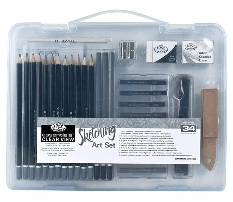Royal & Langnickel Small Clear Case Sketching Set (RSET-ART3105)