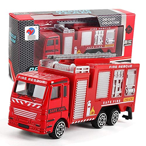 【Deal!!!】 Kids Toy Car Alloy Engineering Fire Rescue Toy Car, Model Toy Vehicle Educational Toys Best Christmas Birthday Party Festival Gift for Children (Fire Truck-1PC)