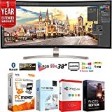 LG 38UC99-W 38-inch 21:9 WQHD+ 3840 x 1600 Curved IPS Monitor Bundle with Elite Suite 18 Standard Editing Software Bundle and 1 Year Extended Warranty