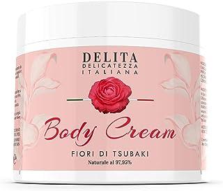 Dulàc - Body Cream - Crema corporal hidratante con flores de Tsubaki - 500 ml - Hidrata, reafirma y alisa tu piel - 97,95% natural - DELITA