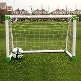 Mulple Soccer Goal, Portable Locking Football Goal [8ft x5ft] | Ultimate Adult Kids Garden Goals – 100% Weatherproof PVC (4Feet)
