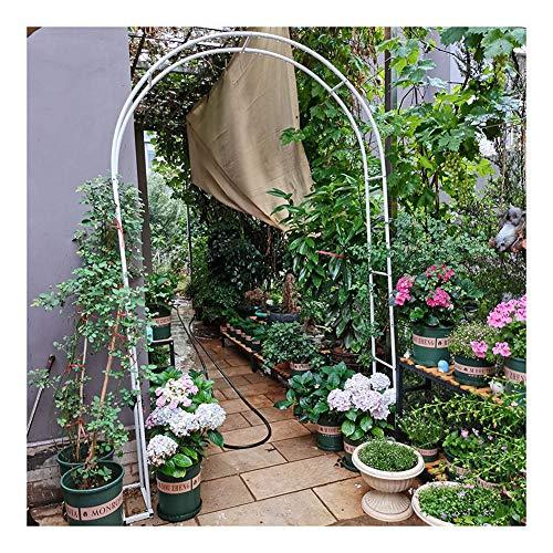 HLMBQ - Arco de acero para jardín con soporte para enrejados, diseño de arco de boda, estable estable, ceremonia y recepción, decoración de rosas de 140 x 230 cm, 180 x 220 cm, 200 x 230 cm