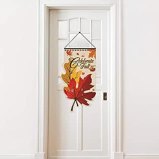 Door Sign Decorative Door Decor Welcome Banner, Hanging Welcome Door Sign Banner Fabric (Maple)