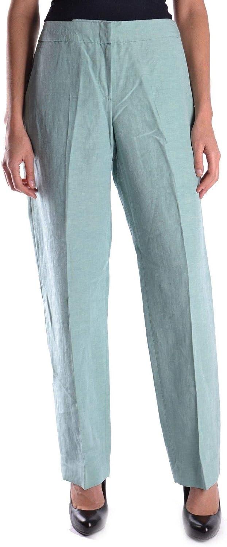 ARMANI COLLEZIONI Women's MCBI13775 Green Linen Pants