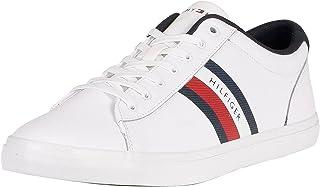 Tommy Hilfiger Herren Essential Leather Vulc Stripes Sneaker