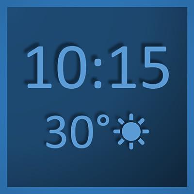 Digital Wall Clock & Weather Station - always on