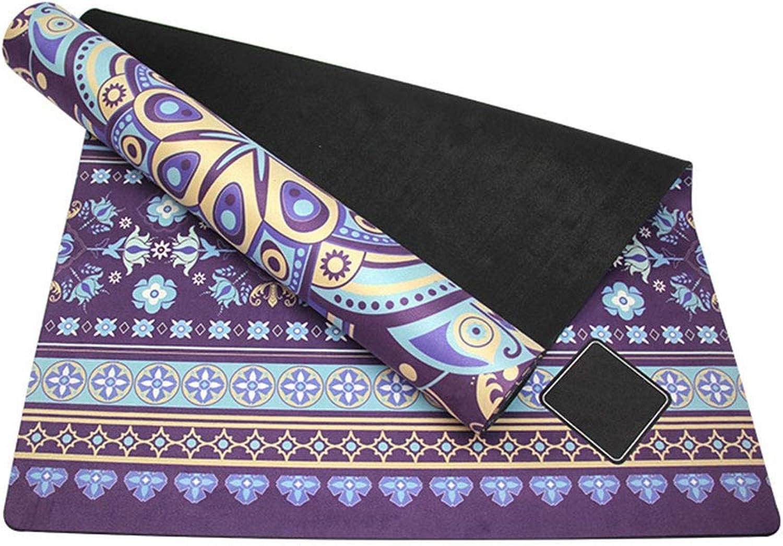 GoYoga Allzweck-1 2-Zoll-Extra-dicke Anti-Tear-übungs-Yoga-Matte Mit Tragegurt (Farbe   lila, gre   183cm61cm0.35cm)