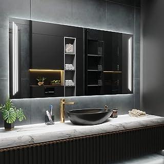 ARTTOR Miroir LED Salle de Bain et WC - Carré et Rectangulaire - Divers Motifs Décoratifs et Toutes Tailles - Decoration M...
