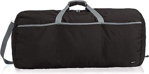 Amazon Basics - Bolsa grande de viaje/deporte (lona, 98 l), color negro