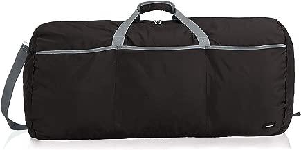 AmazonBasics - Bolsa grande de viaje/deporte (lona, 98 l), color negro